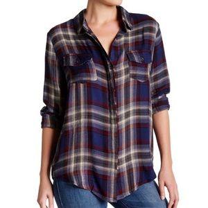 Vintage Havana Bailey Zip-Back Plaid Shirt